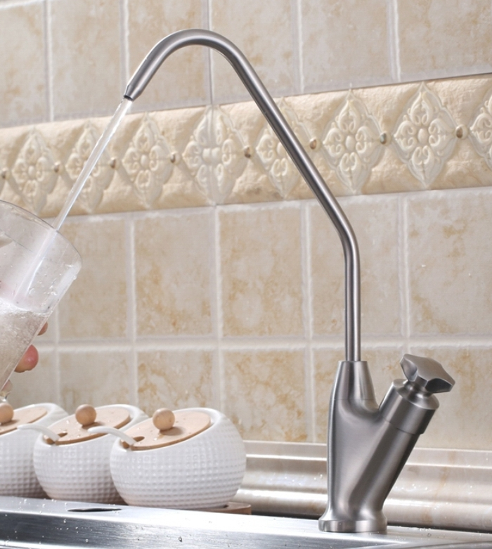 Free shipping SUS304 Stainless Steel Lead free Kitchen Drinking Water Filter Tap Faucet Drinking Water Filter