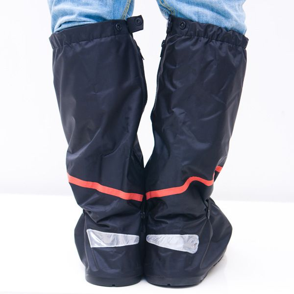 Outdoor Sport Non-slip Scootor Boots Overshoes Sport Black Motorcycle Waterproof Reflective Rain Shoes Covers 033001
