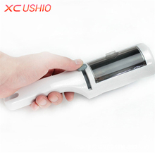Portable Clothes Fluff Remover Brush Double-sided Lint Hair Dust Remover Cleaning Brush Coat Suit Anti Static Cleaning Tools