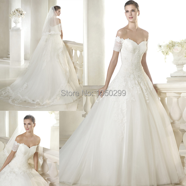 Princess Style Ball Gown V neck Top Lace Ruched Short Sleeve Vestido ...