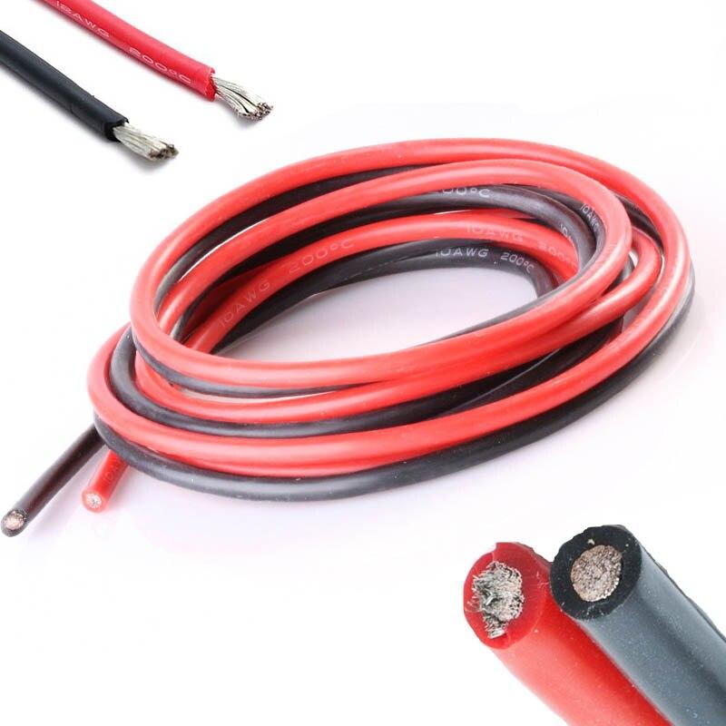 12 Gauge 1meter Red+1meter Black Silicone Wire 12AWG 12# Heatproof ...