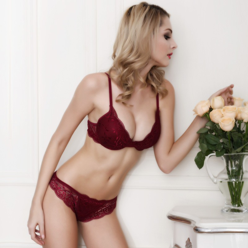 Newest Women Lingerie Sexy Lace Bra Set Transparent Sexy Push Up Bra Women Underwear Sexy Bra&Panty Sets 21
