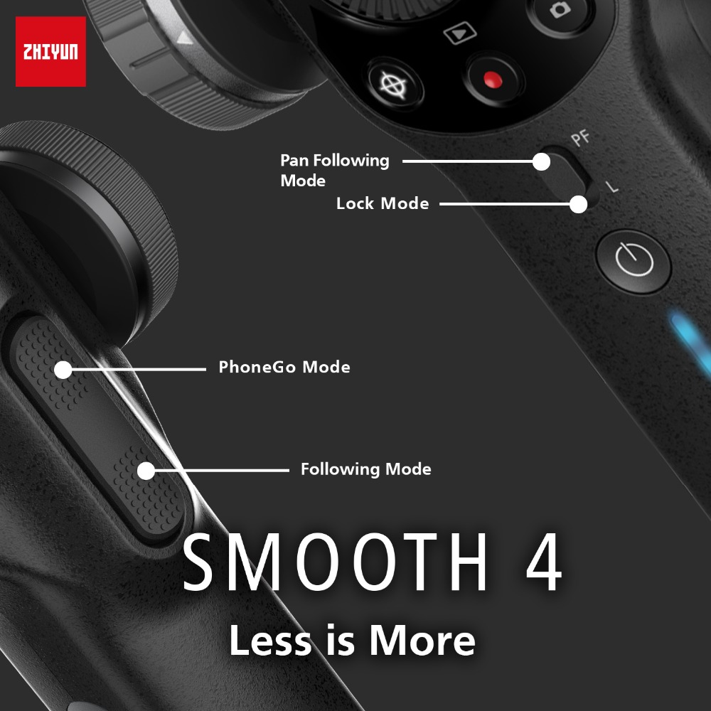 Image 4 - Zhiyun Smooth 4 Q2 Vlog Live 3 Axis Handheld Smartphone Gimbal Stabilizer for iPhone Xs Max X 8 7& Samsung S9,S8 & Action Camera-in Handheld Gimbals from Consumer Electronics
