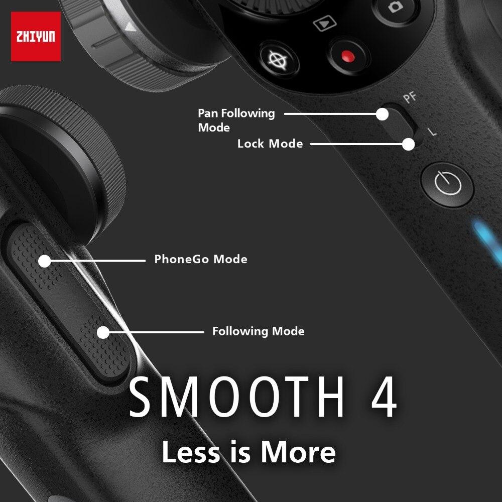 Zhiyun stabilisateur de cardan portable lisse 4 Vlog 3 axes pour iPhone Xs Max Xr X 8 Plus 7 Huawei & Samsung S9, 8 & Gopro caméra d'action - 4