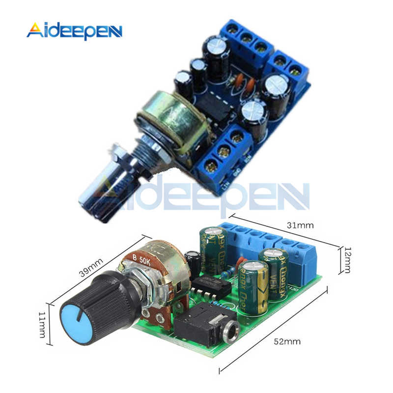 TDA2822 TDA2822M 2.0 Channel Stereo Audio Power Amplifier Papan DC 1.8-12V Mini AUX Audio Amplifier Modul dengan potensiometer