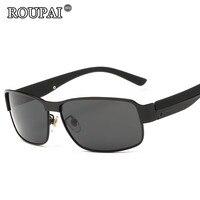 ROUPAI Brand Sun Glasses For Men Driving Glasses Vintage Male Polarized Sunglasses Coating Mirror Oculos Aviadores