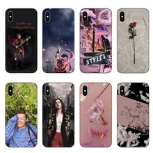 One Direction tattoos Harry Styles pink flowers Soft Silicone Phone Cases Cover for iphone 5 5S SE 6 6S Plus 7 8 XR XS Max
