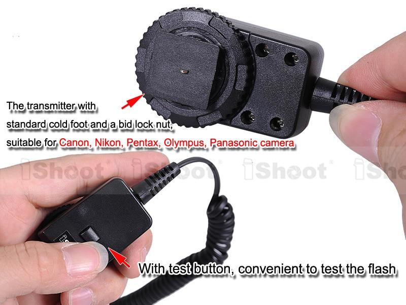 Триггер для вспышки Двойной Горячий башмак крепление 2,5 м кабель для синхронизации ПК с передатчиком разъем 3,5 мм для Canon Pentax Olympus камера Speedlite