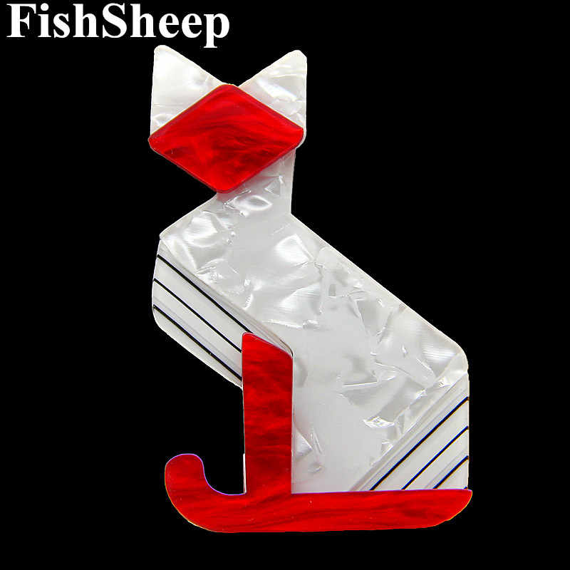 FishSheep 2018 di Modo Acrilico Grande Gatto Spille Per Le Donne Ultime Animale Della Resina Big Cats Spilla E Spilli Accessorio Femminile Regalo