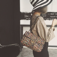 2016 Fashion Shoulder Handbag Linen Cloth Crossbody Bags Vintage Female Embroidery Messenger Bag Chain Strap Flap Dollar Prices