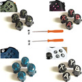 Custom For Xbox One Slim Elite Controller ABXY button Kit Bullet Buttons Repair Parts Mod Kit With T8 T6 Screw Driver