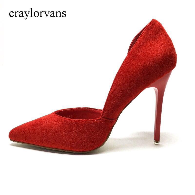 2108 TuoniBrand ผู้หญิงรองเท้าส้นสูงรุ่นพื้นฐานปั๊มนิ้วเท้าแต่งงานรองเท้า 2017 ผู้หญิงปั๊มหนังทำด้วยมือรองเท้า-ใน รองเท้าส้นสูงสตรี จาก รองเท้า บน   1
