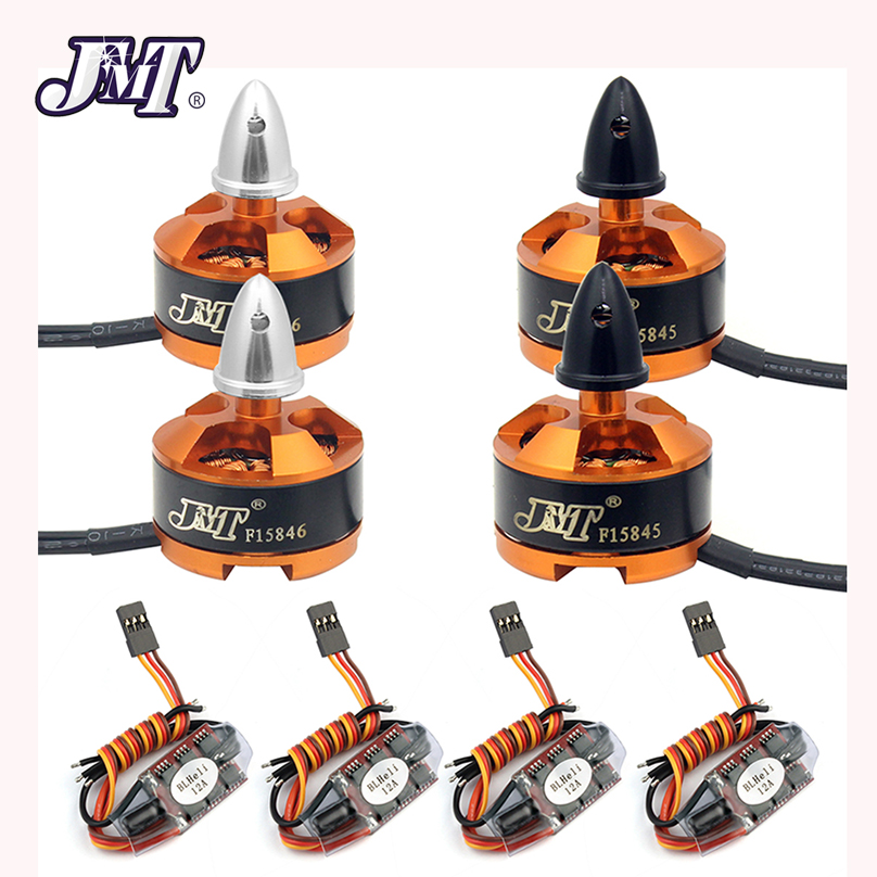 JMT 1806 2400KV Motor with BLHeli 12A ESC Combo for Quadcopter RC Racer FPV Racing Drone Motor ESC jmt 1806 2400kv clockwise cw ccw brushless motor mini multi rotor motor for 250 across fpv 260 rc quadcopter aircraft