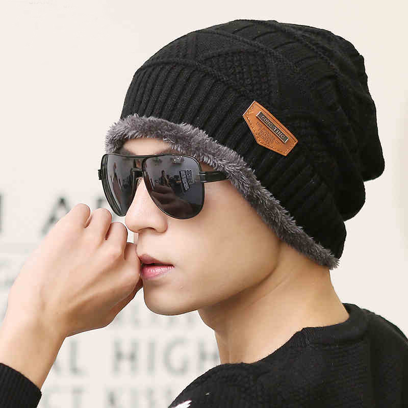 2017 Beanies & Skullies Knit Men's Winter Hat Caps Bonnet Winter Hats For Men Women Beanie Warm Casual Cap skullies