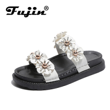 Fujin Brand 2019 New Ladies Sandals  Summer Fashion Shoes Female Slippers Beach Holiday Casual Flat