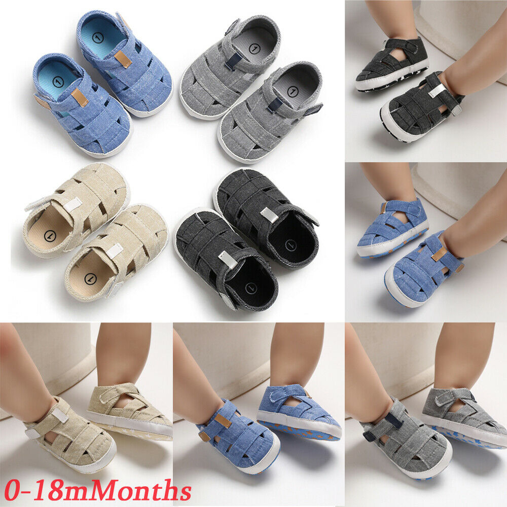 Toddler Baby Kid Boy Girl Soft Sole Crib Shoes Summer Sandals Sneakers Prewalker