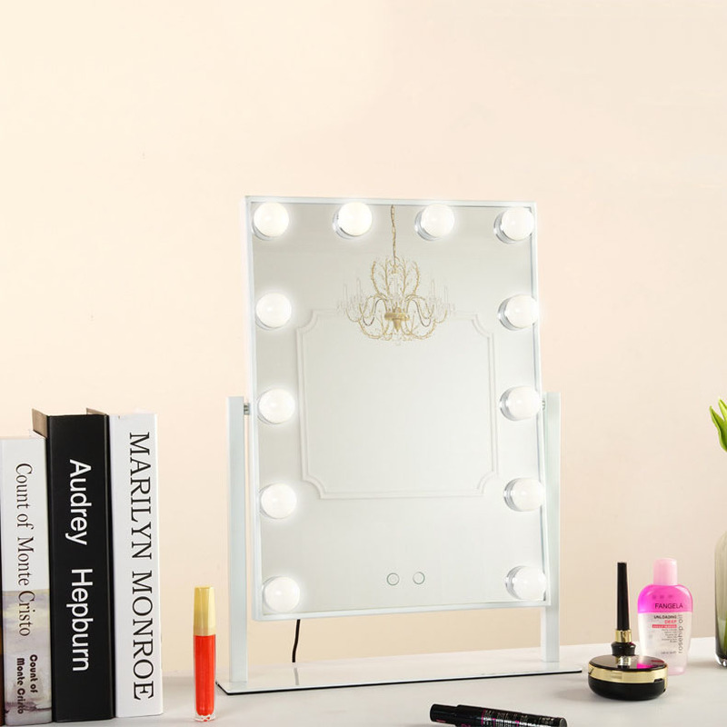 Новый светодиодный 12 светодио дный лампочек зеркало портативный принцесса зеркало красота зеркало туалетный свет 3 цвета Макияж Зеркало Ре