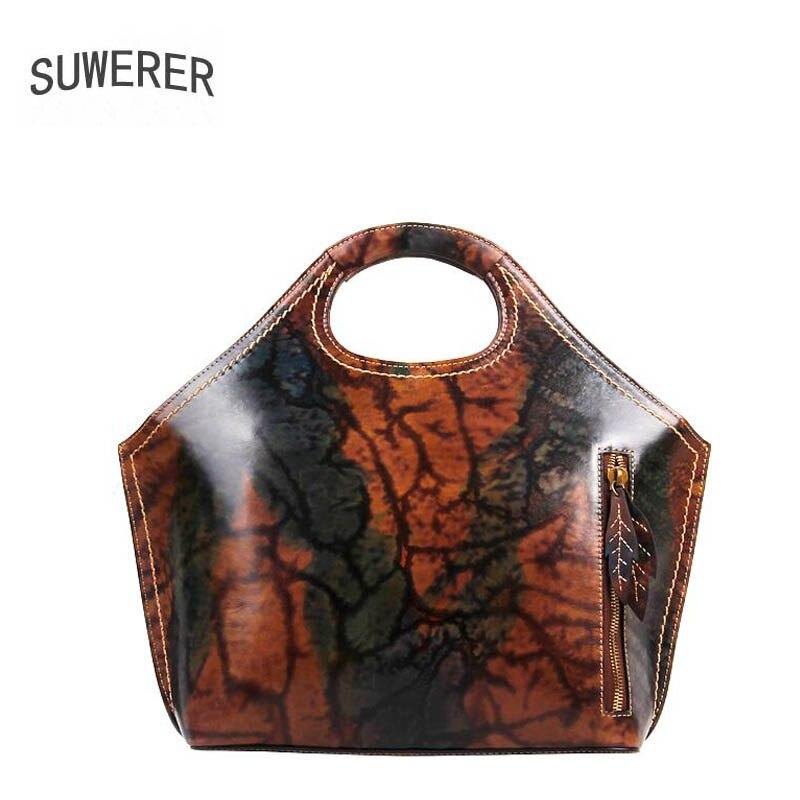 цены Suwerer Genuine Leather women bags for women 2018 new luxury handbags women bags designer bags handbags women famous brands