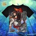 Anime Kantai Collection Shimakaze Amatsukaze Yamato Musashi T-shirt Kancolle Takao Atago Black Polyester T Shirt Summer Tshirt
