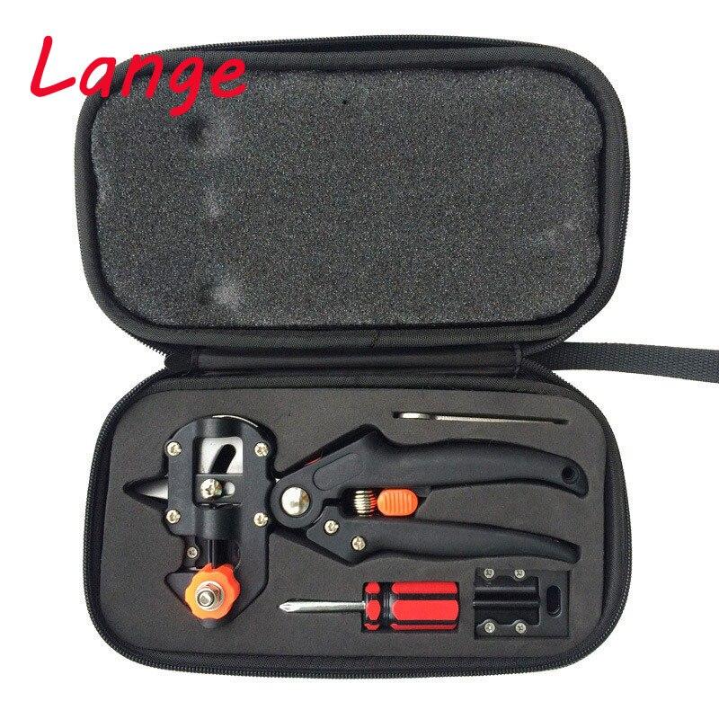 Lange paño cajas injerto tijeras con 2 hojas herramientas de injerto de árbol tijeras de vacunación cuchillo de corte Pruner A9
