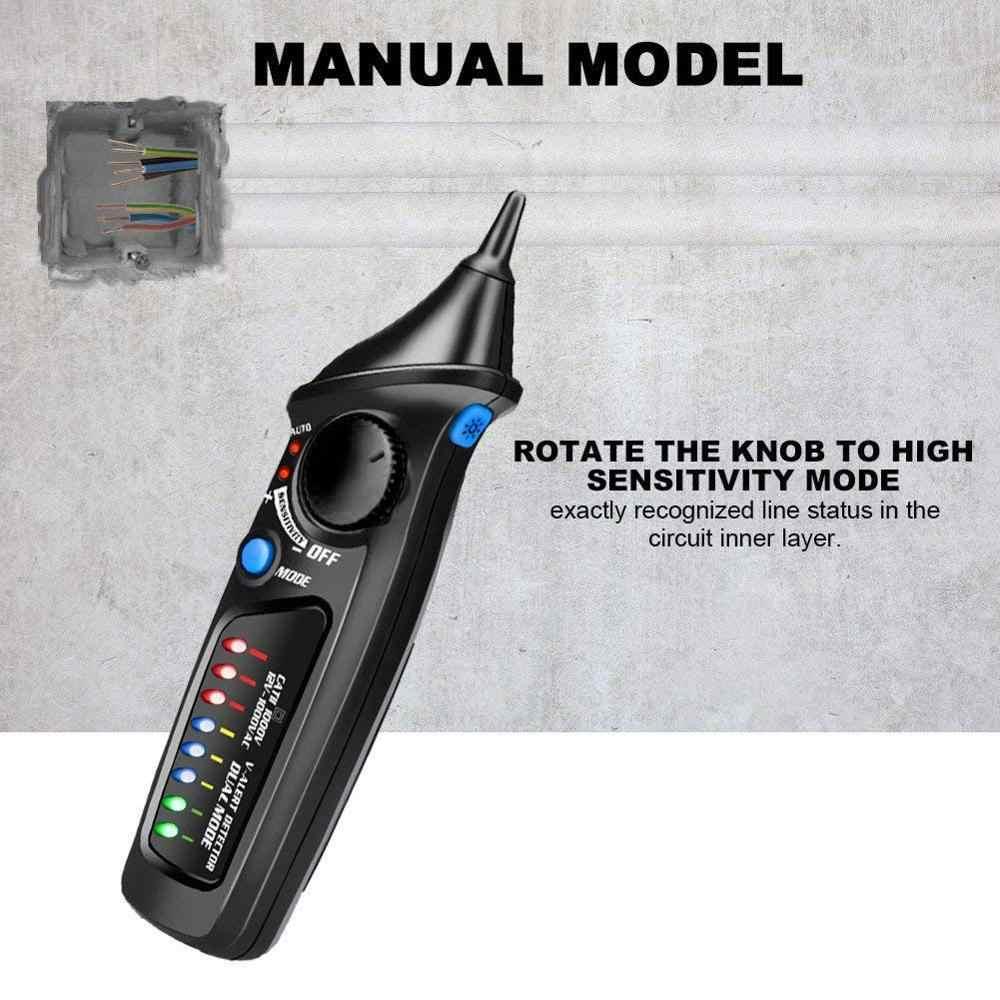 Elektryczny tester napięcia detektor długopis testowy wskaźnik bezdotykowy AC 12 V-1000 V z latarką LED