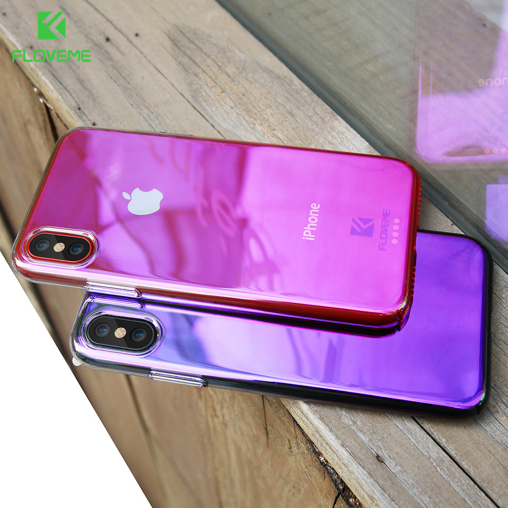 Floveme Luxury Case For Iphone X Blue Light Ray Case For