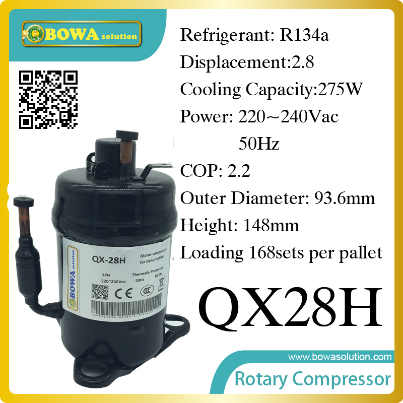 275W Cooling capacity Rotary compressor (R134a) suitable for cooling street LED lights and large power LED lights large cooling capacity indepedent electronic expansion valves eev unit suitable for tandem compressor unit or compressor rack