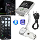 Automotive LCD Bluetooth FM transmitter MP3 player SD32G USB Port hands-free kit With USB Charger Support Flash Car Accessories