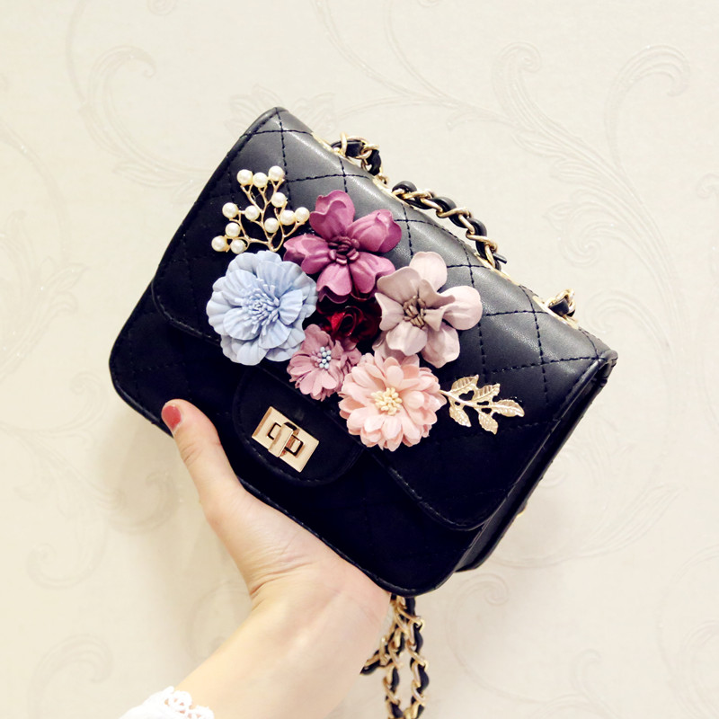 LOUCHUNLAN Women bags Fashion plaid 2018 small day clutch chain one shoulder cross body bags female flower banquet bag