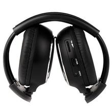 1 x Duplo Infravermelho fone de ouvido Estéreo Fone De Ouvido fone de Ouvido Sem Fio IR Car DVD Player Encosto De Cabeça Preta