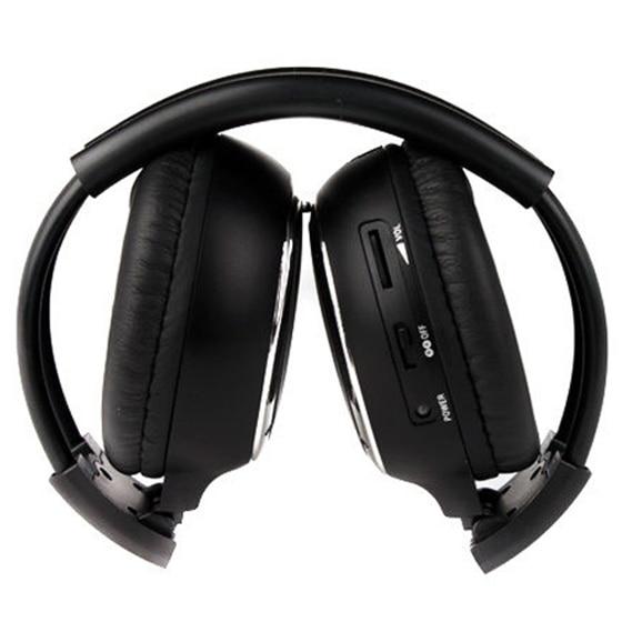 1 x Double Infrared Stereo Wireless Headphone Headset IR Car DVD Player Headrest Black