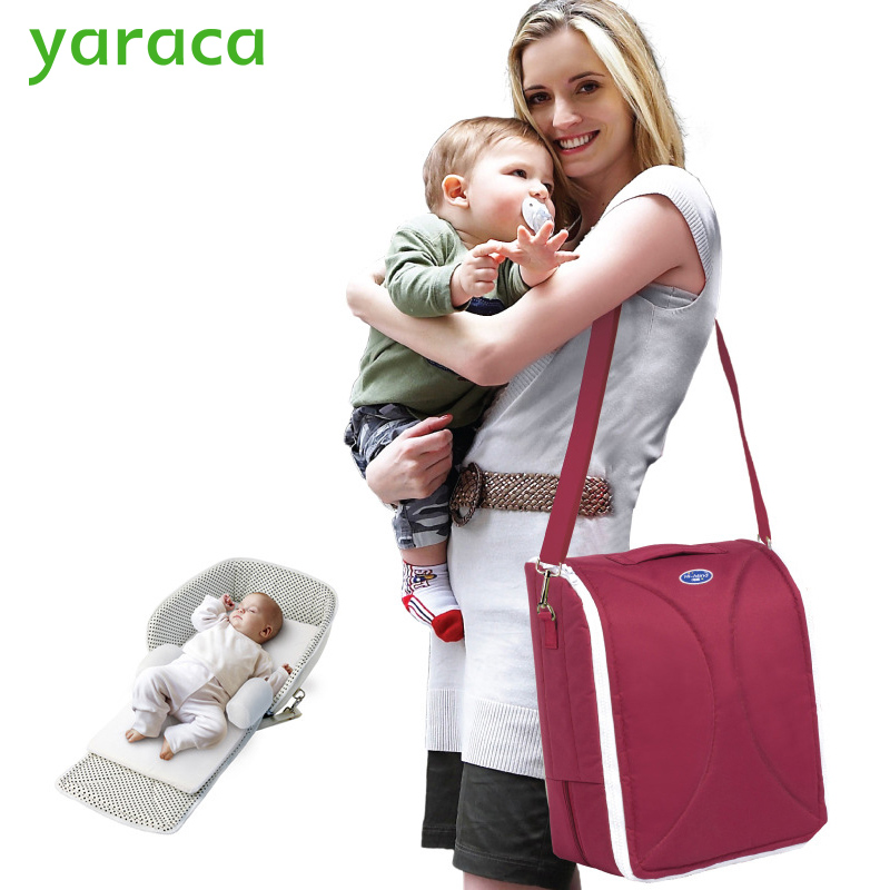 Lightweight Portable Baby Crib Folding Baby Bed For Travel Multi-function Mummy Nappy Bag Large Capacity Baby Bags For Mom  цена и фото