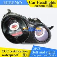 Hireno Custom Modified Headlamp For Volkswagen Polo 2002 10 Headlight Assembly Car Styling Angel Lens Beam