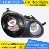 Hireno Custom Modified Headlamp For Volkswagen Polo 2002 10 Headlight Assembly Car Styling Angel Lens Beam