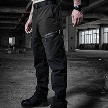 High quality 2019 outdoors Urban tactical quick-drying Zipper pocket military enthusiasts commando cargo Overalls combat pants
