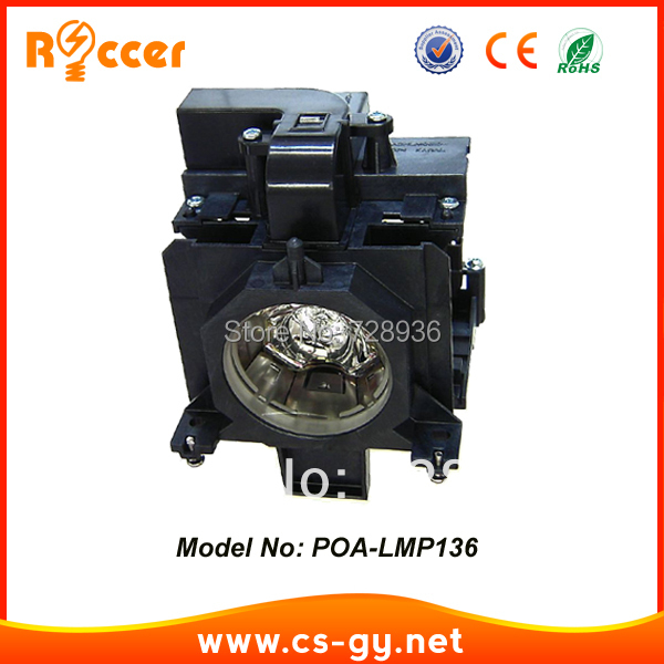 Compatible Projector Lamp Bulbs POA-LMP136 for Sanyo PLC-XM150/PLC-WM5500/PLC-ZM5000L/PLC-XM150L plc xm150 plc xm150l plc wm5500 plc zm5000l poa lmp136 for sanyo compatible projector lamp bulbs with housing