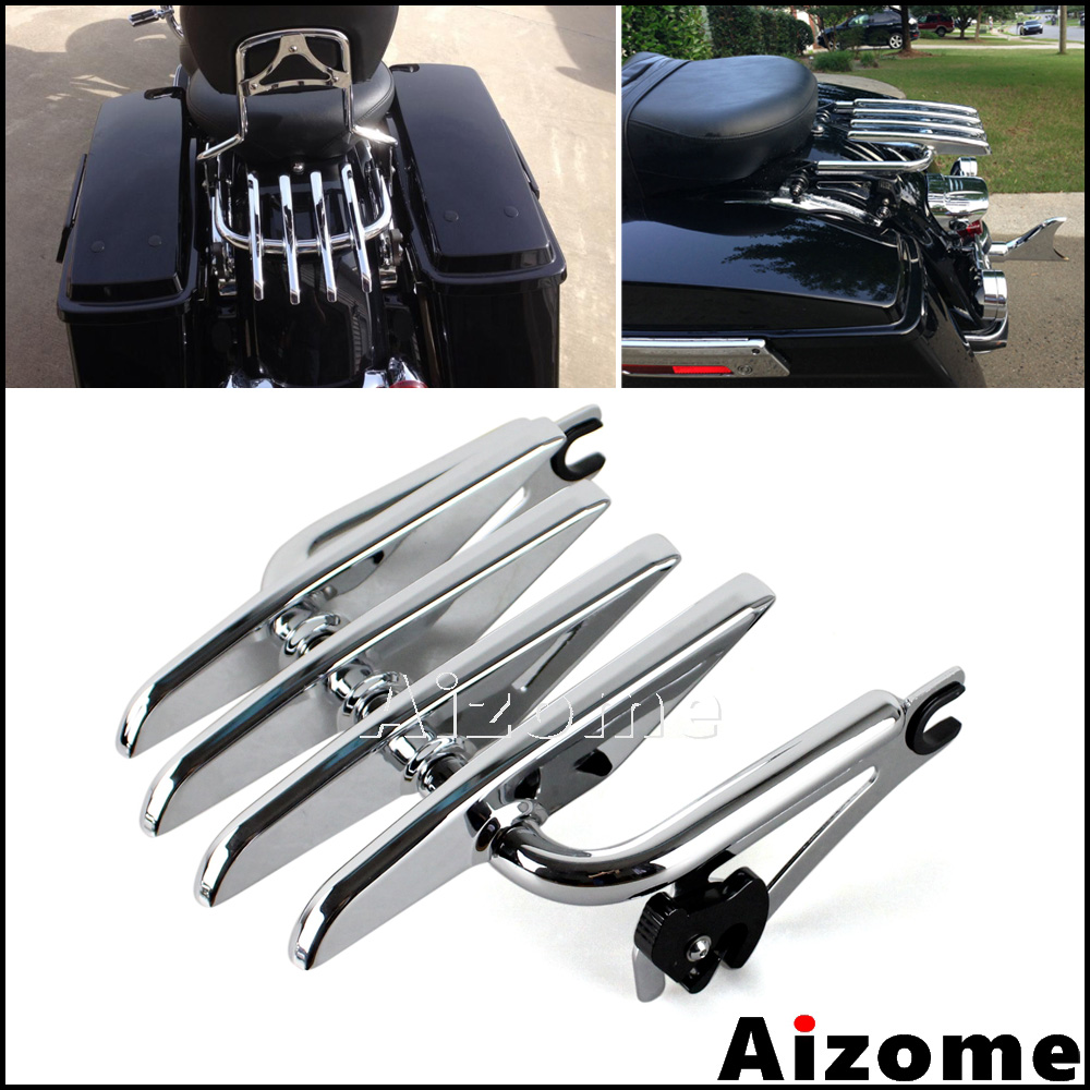 Motorcycle Detachable Stealth Luggage Rack For Harley Road King Street Electra Glide FLHR FLHT FLHX FLTRX
