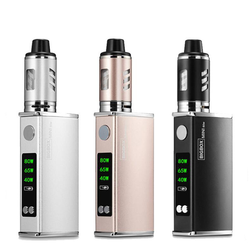 Electronic Cigarette 40W-80W Adjustable vape mod box kit 2200mah 0.5ohm battery 2.8ml tank e-cigarette Big smoke atomizer vapor
