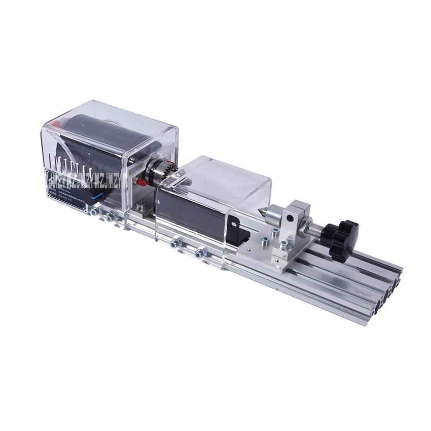 Multifunctional Micro Lathe Woodworking Machine Polishing Small Beads Household DIY Wood Lathe 220v/110V 50/60HZ 350W 8000r/Min