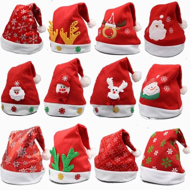 07c57105ae818 Christmas Ornaments Decoration Christmas Hats Santa Hats Children Women Men  Boys Girls Cap For Christmas Party Props