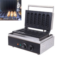 Ship From US 1550W Commercial Nonstick Electric French Hot Dog Waffle Maker Iron Machine For