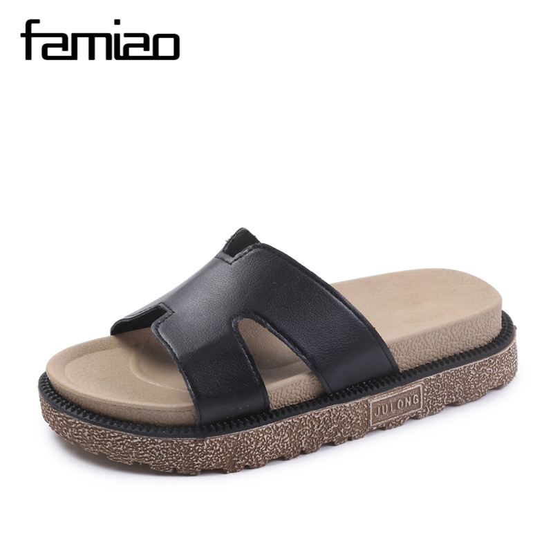 Women Slides 2018 Fashion Slippers Platform Sandals Summer Beach Slides Flip Flops Comfortable Flat Shoes Chaussure Femme