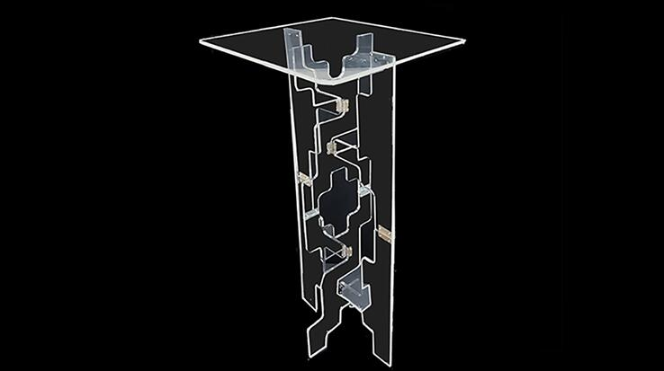High quality Acrylic Transparent Magic Table Tora Glassy Table (Folding) Stage Magic Tricks Magic Accessories