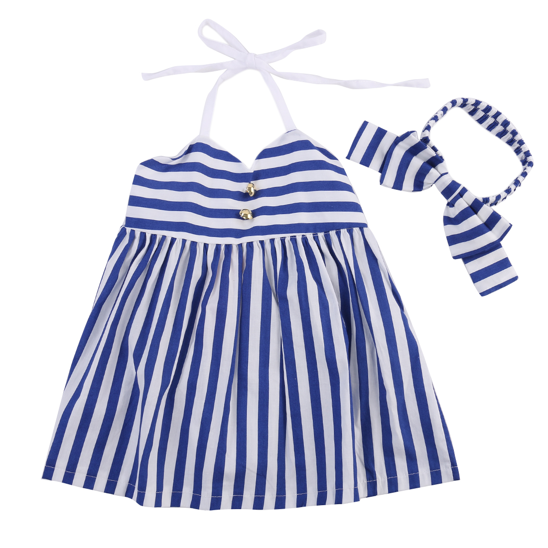 2016 Summer New Brand Dress Baby Girls Bow Dress Summer Toddler Children Clothing Kids Clothes Girls Striped Casual Dress ivory rustic girls dress country western party girls clothing lace baby clothes toddler flower girls dress with bow