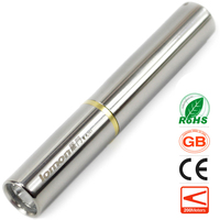 Stainless Steel Mini LED Flashlight Ultra violet UV Bank Note Checker With Torch Jade Distinguishing Scorpion Pocket LED Torch
