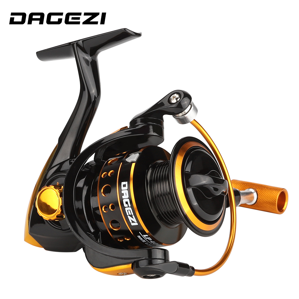 DAGEZI 13BB Metal Spinning Fishing Reel LP1000-4000 Sea Fishing Spinning Reel 5.2:1 Fly Wheel For Saltwater Fishing
