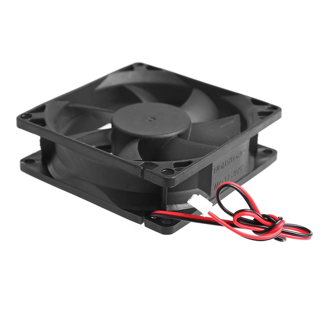 80 x 80 x 25mm 12V 2-pin Brushless Cooling fan for Computer 3
