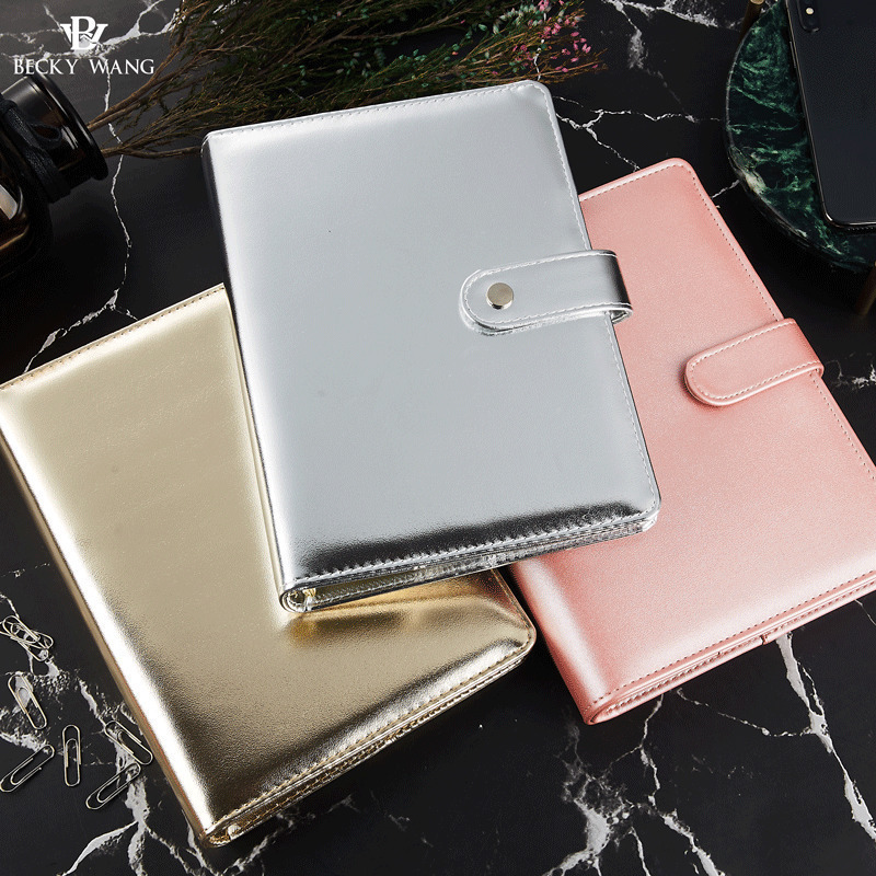 aliexpress com   buy a5 rose gold silver binder only