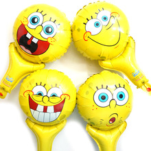20pcs/lot new style Spongebob party balloons hand cheering spongebob toy for kid happy birthday toys