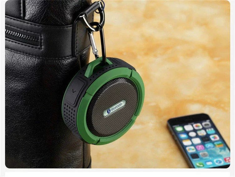 <font><b>Bluetooth</b></font> Lautsprecher 3,0 Wasserdichte Tragbare Outdoor <font><b>Wireless</b></font> Mini Lautsprecher Lautsprecher mit Saugnapf für iphone Samsung C6 image